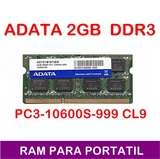 RAM PORTATIL 2GB 2RX8 PC3-10600S-999
