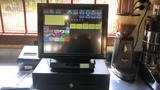 caja registradora, pantalla táctil e imp - foto