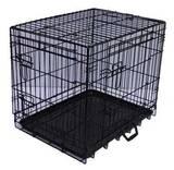 Jaula plegable perros-  negra. l  90x60x - foto