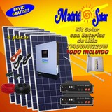KIT SOLAR 48 VOLTIOS CON LITIO - foto