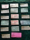 Billetes antiguos de bus capicuas. - foto