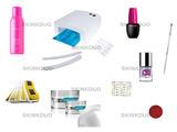 kit uñas de gel pure line +lampara - foto