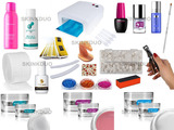 kit uñas gel pureline plus +lampara - foto