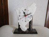 reloj de sobremesa de mármol,catalunya. - foto