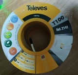 100 metros Cable coaxial TELEVES T100 Pl - foto
