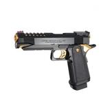 Pistola marui hi-capa 5.1 gold negra/dor - foto