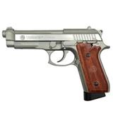 Pistola taurus pt92 co2 plata/madera - foto