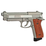 Pistola swiss arms 92 co2 4,5 plata/made - foto