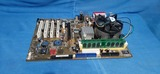 Placa ASUS +procesador+memoria - foto