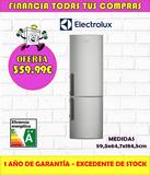 FRIGORIFICO ELECTROLUX ACERO INOXODABLE - foto