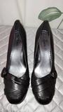 Zapato negro ancho - foto