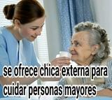 CHICA EXTERNA PARA CUIDAR PERSONA MAYOR - foto