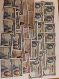 Lote de billetes de España antiguos. - foto