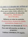 CLASES Y CUIDADO DE NIÑOS/AS - foto