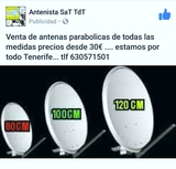 Antena parabolica 80 cm nueva - foto