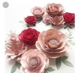 Realizo flores artesanales de papel - foto