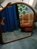 espejo ovalado de haya. precioso 45 euro - foto