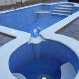 Losas para muro de piscina a medida. - foto