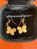 Pendientes tous oro y gemas colores - foto