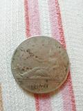 Vendo moneda 5 pesetas 1870. Ley 900 M - foto