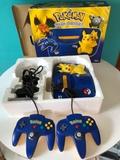 Nintendo 64 ed pikachu caja y 2 mandos - foto