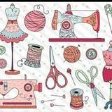Modista costurera arreglos de ropa - foto