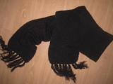 Bufanda de lana negra - foto