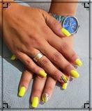 Uñas de acrilico,color semipermanete, - foto