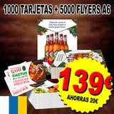 1000 mil tarjetas + 5000 flyers a6 - foto