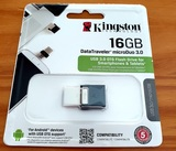 Pen Kingston DataTraveler 16Gb OTG USB 3 - foto