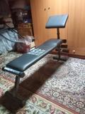 Banco de ejercicios y kit de mancuernas - foto