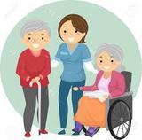 cuidadora de personas mayores y niños - foto