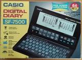 Agenda Casio Digital Diary SF 7500 64K - foto