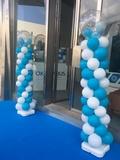 Decoracion con globos de helio y aire. - foto