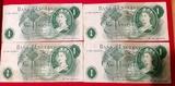 4 Billetes Moneda 1 Libra - foto