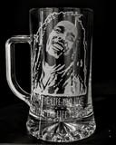 Bob Marley - Grabados sobre cristal - foto