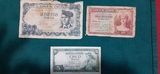 3 billetes 500 10 ptas sin serie 5 ptas - foto