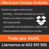 CREACIÓN DE PAGINA WEB POR 340 EUROS - foto