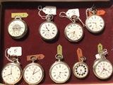 Lote de nueve Relojes bolsillo - foto