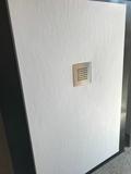 Plato de ducha con tabique en pavés - foto