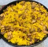 Delicioso arroz paisa - foto