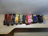 Vendo lote de 33 cinturones muy variados - foto