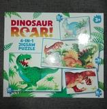 4 puzles de dinosaurios - foto