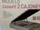 CANAPE ABATIBLE CON DOS CAJONES - foto