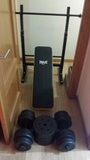 Kit fitness con banco de press 50 Kgs. - foto