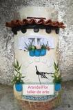 Tejas decoradas Regala cerámica día del - foto
