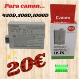 bateria recargable para canon LP-E5 - foto