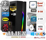 PC Gaming Intel Quad Core 8GB 1000GB - foto