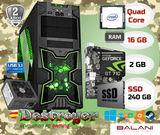 PC Gaming Intel 16GB GT 710 SSD W10 - foto