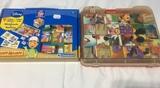 lote de 2 puzzles infantiles de cubos - foto
